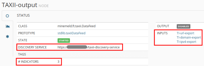 TAXII output discovery service