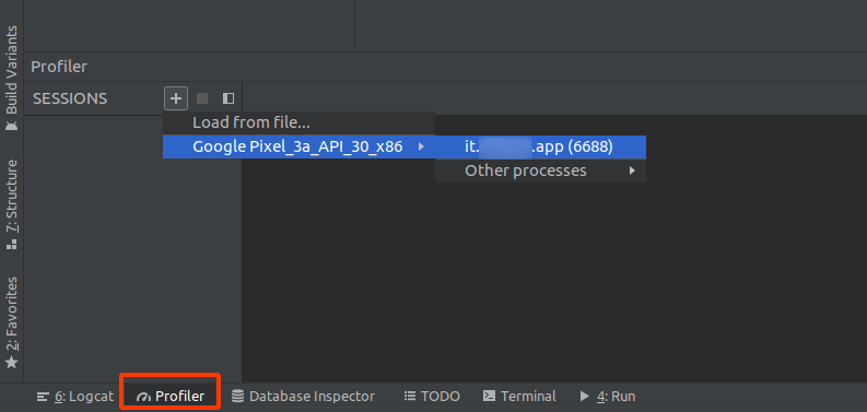 Android Studio - profiler